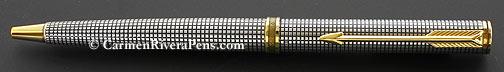 Parker 75 Premier Silver Cisele Ballpoint Pen