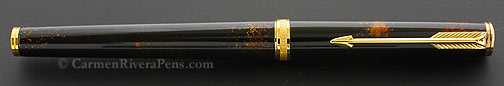 Parker 75 Premier Black Lacquer w/ Gold Sprinkles Fountain Pen