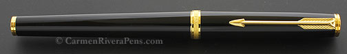 Parker 75 Premier Black Lacquer Fountain Pen