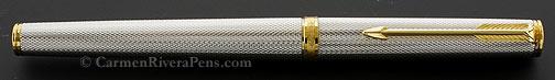 Parker 75 Premier Silver Grain D'orge Fountain Pen