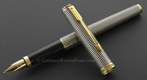 Parker 75 Premier Silver Cisele Fountain Pen