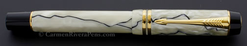 Parker Duofold Centennial Streamlined Pearl Black Fountain Pen