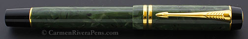 Parker Duofold International Jade Green Streamlined Fountain Pen