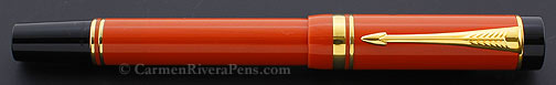 parker-duofold-international-orange-flat-top-fountain-pen © carmenriverapens.com