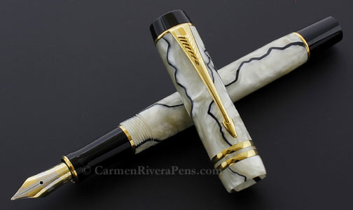 Parker Duofold International Streamlined Pearl Black Fountain Pen