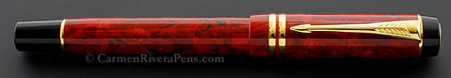 Parker Duofold Streamlined Jasper Red Rollerball Pen
