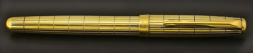 parker-sonnet--crocodile-vermeil-fountain-pen-1