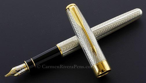 Parker Sonnet Premier Sterling Silver Fougére Fountain Pen