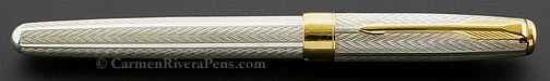 Parker Sonnet Premier Sterling Silver Fougére Fountain Pen