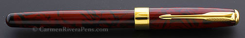 Parker Sonnet Premier Red Marble Lacquer Rollerball Pen