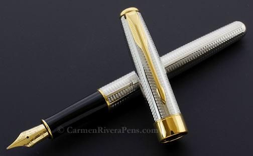 Parker Sonnet Premier Silver Cascade Fountain Pen