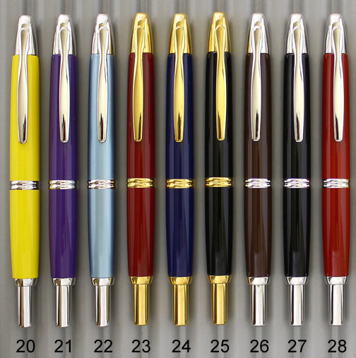 pilot-namiki-capless-vanishing-point-fountain-pen-mandarin-yellow-purple-ice-blue-limited-edition