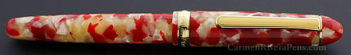 Platinum #3776 Celluloid Koi Red Fountain Pen