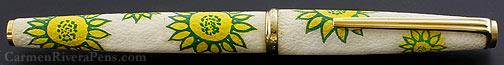 Platinum Yellow Marguerite Sheepskin Fountain Pen