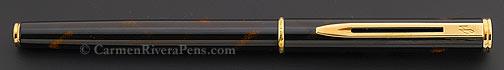 Waterman Black Lacquer Executive Fountain Pen